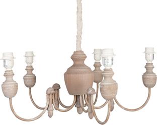 Hanglamp 5 Lampen : Hängelampe lampen braun eisen  cm clayre